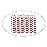 VALENTINE SAINT by bluedecker Oval Sticker