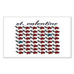 VALENTINE SAINT by bluedecker Sticker (Rectangular