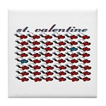VALENTINE SAINT by bluedecker Tile Coaster