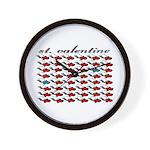 VALENTINE SAINT by bluedecker Wall Clock