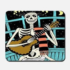 day of the dead big clock Mousepad