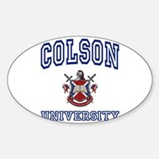 COLSON University Oval Decal