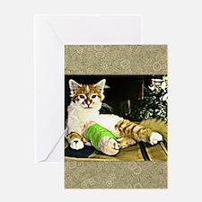 Kitten in Cast Greeting Card