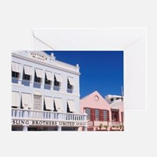Shopping on Front Street in Hamliton Greeting Card