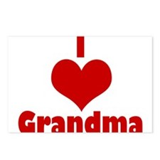 I love Grandma Postcards (Package of 8)