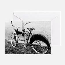 Black and White Bike Greeting Card