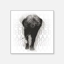 "natelephant-back Square Sticker 3"" x 3"""