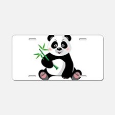 Panda with Bamboo-3 Aluminum License Plate