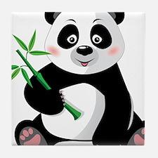 Panda with Bamboo-3 Tile Coaster