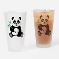Panda with Bamboo-3 Drinking Glass