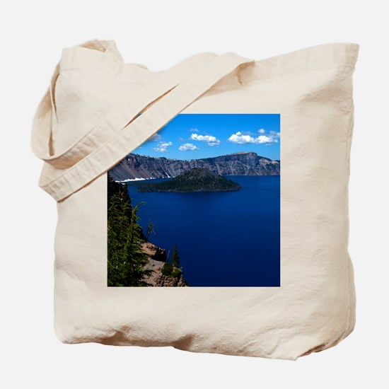 (4) Crater Lake  Wizard Island Tote Bag