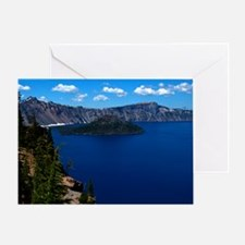 (4) Crater Lake  Wizard Island Greeting Card
