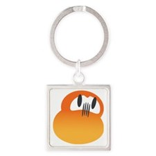 daruma orange logo Square Keychain