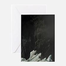 Fox Glacier. Seracs by glaciers edge Greeting Card