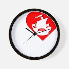 I-Heart-Pirates-dark Wall Clock