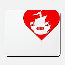 I-Heart-Pirates-dark Mousepad
