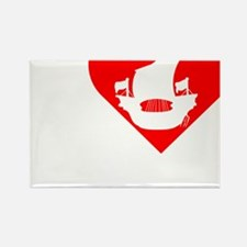 I-Heart-Pirates-dark Rectangle Magnet
