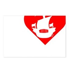 I-Heart-Pirates-dark Postcards (Package of 8)