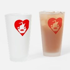 I-Heart-Pirates-dark Drinking Glass