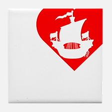 I-Heart-Pirates-dark Tile Coaster