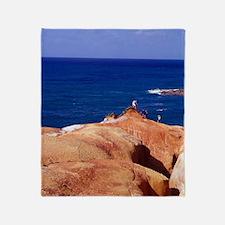 Red Rock, Pointe Baptiste, Calibishi Throw Blanket