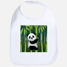 Panda in Bamboo Bib