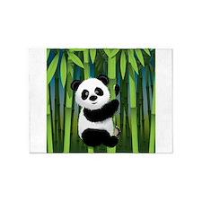 Panda in Bamboo 5'x7'Area Rug