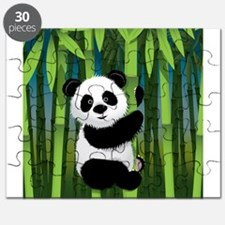 Panda in Bamboo Puzzle