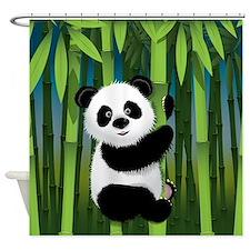 Panda in Bamboo Shower Curtain