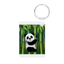 Panda in Bamboo Keychains