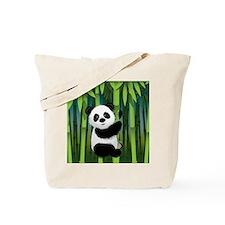 Panda in Bamboo Tote Bag