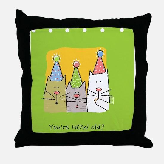 bdaycats Throw Pillow