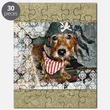 Doxie in Pirate Costume Puzzle