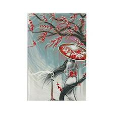Kindle Sleeve Samurai Woman Rectangle Magnet