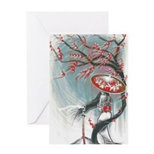 Kindle Sleeve Samurai Woman Greeting Card