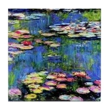 MONETWATERLILLIESprint Tile Coaster
