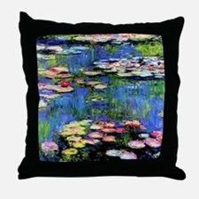 MONETWATERLILLIESprint Throw Pillow