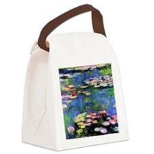 MONETWATERLILLIESprint Canvas Lunch Bag