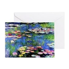 MONETWATERLILLIESprint Greeting Card