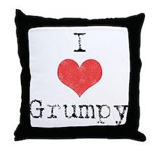 I love Grumpy Throw Pillow