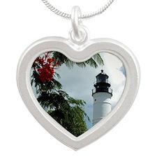 KeyWestHibiscusFinal2 Colonn Silver Heart Necklace