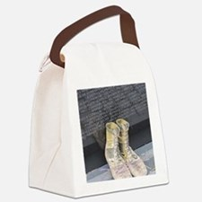 Boots at Vietnam Veterans Memoria Canvas Lunch Bag