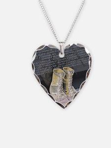Boots at Vietnam Veterans Mem Necklace