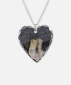 Boots at Vietnam Veterans Mem Necklace Heart Charm