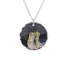 Boots at Vietnam Veterans Me Necklace Circle Charm
