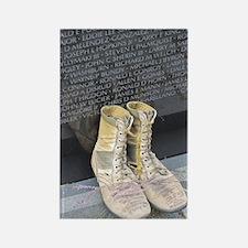 Boots at Vietnam Veterans Memoria Rectangle Magnet