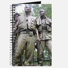 Statue at Vietnam Veterans Memorial Wall 2 Journal