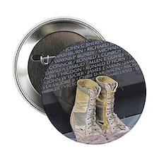 """Boots at Vietnam Veterans Memorial Wa 2.25"""" Button"""