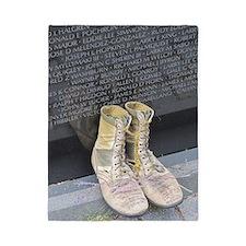 Boots at Vietnam Veterans Memorial Wall Twin Duvet