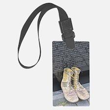 Boots at Vietnam Veterans Memori Luggage Tag